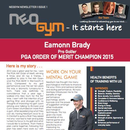 Neo Gym Newsletter Issue 1