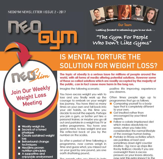 Neo Gym Newsletter Issue 2